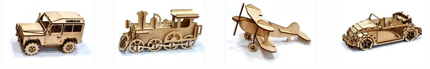 Конструкторские наборы из древесины интернет-магазина АО «ЧЭАЗ»